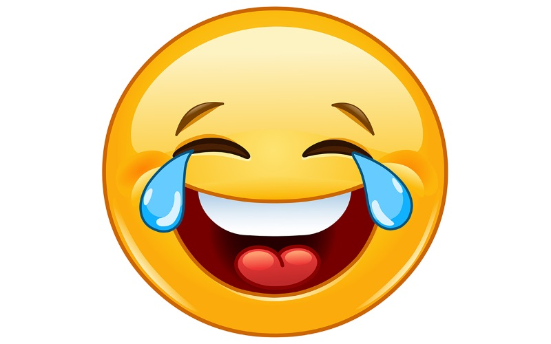 Vor Lachen Weinender Smiley